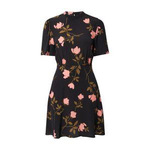 NEW LOOK Ruha  fekete / khaki / rózsaszín
