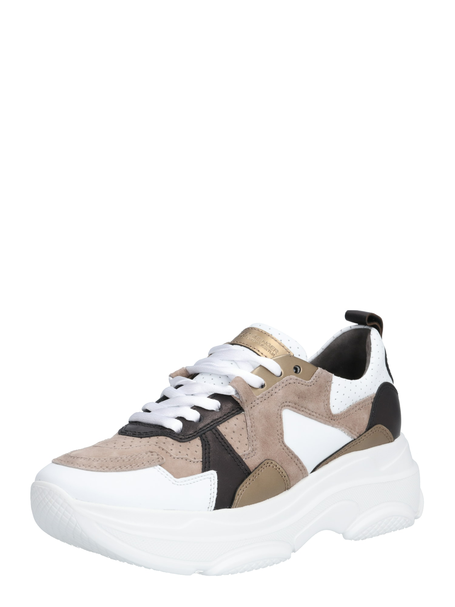 Kennel & Schmenger Rövid szárú edzőcipők  fehér / világosbarna / arany