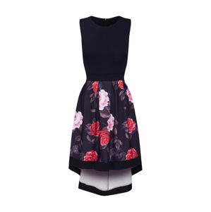 Mela London Ruha 'BRIGHT FLORAL TWO TONE HIGH LOW DRESS'  fekete
