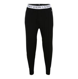 POLO RALPH LAUREN Pizsama nadrágok  fehér / fekete