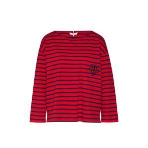 TOMMY HILFIGER Shirt 'Breton'  piros / sötétkék