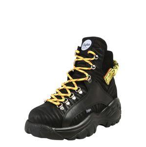 Buffalo London Fűzős rövid szárú csizmák 'GISELE'  sárga / fekete