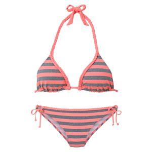 VENICE BEACH Bikini  szürke / korál / sötét-rózsaszín