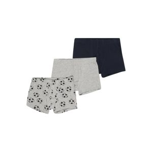 NAME IT Alsónadrág 'NKMTIGHTS 3P GREY MEL FOOTBALL NOOS'  zafir / szürke melír