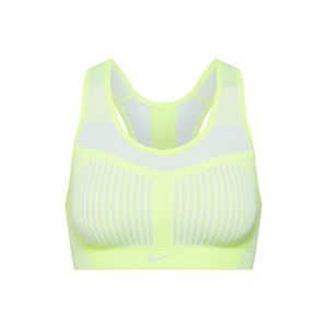 NIKE Sportmelltartók 'FE/NOM Flyknit High Support Sports Bra'  sárga / fehér