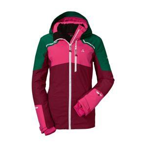 Schöffel Kültéri kabátok 'Axams3'  sötétzöld / bogyó / rózsaszín