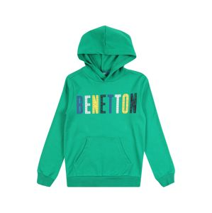 UNITED COLORS OF BENETTON Tréning póló 'SWEATER W/HOOD'  zöld