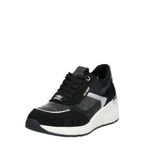TOM TAILOR Rövid szárú edzőcipők  fekete / ezüst
