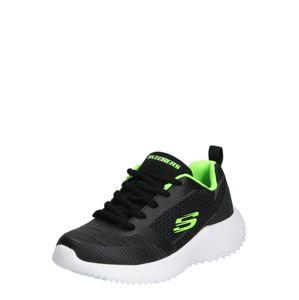 SKECHERS Sportcipő 'BOUNDER'  citromzöld / fekete
