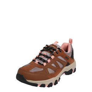 SKECHERS Sneaker 'Selmen'  szürke / rózsaszín / barna