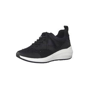 TAMARIS Rövid szárú edzőcipők  fehér / fekete