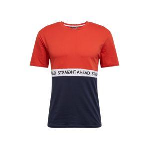 Hailys Men Póló 'Athletic'  tengerészkék / piros