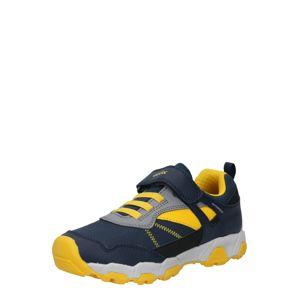GEOX Sportcipő  sötétkék / fekete / sárga