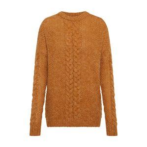 VILA Oversize pulóver 'VISAGA KNIT'  mustár