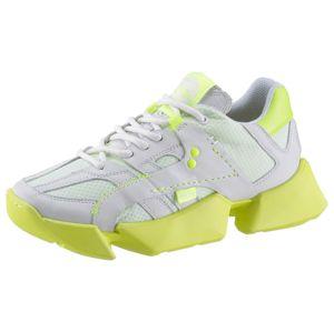 Buffalo London Rövid szárú edzőcipők  fehér / neonsárga