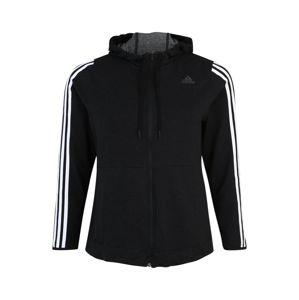 ADIDAS PERFORMANCE Sport szabadidős dzsekik '3S KNT FZ'  fekete / fehér
