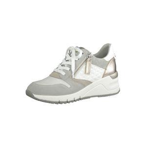 TAMARIS Rövid szárú edzőcipők  fehér / világosszürke
