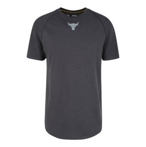 UNDER ARMOUR Sportshirt 'Project Rock Charged Cotton SS'  sötétszürke / fekete