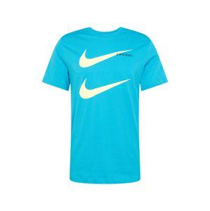 Nike Sportswear Póló 'Swoosh'  sárga / égkék