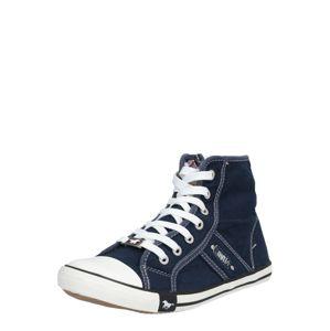 MUSTANG Magas szárú edzőcipők  fehér / sötétkék