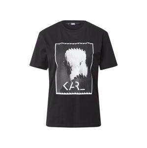 Karl Lagerfeld Póló  fekete / fehér