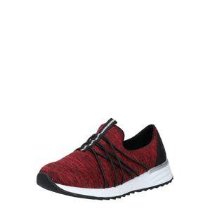 RIEKER Rövid szárú edzőcipők  piros / fekete
