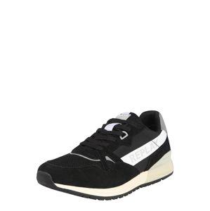 REPLAY Rövid szárú edzőcipők  fehér / fekete / szürke