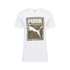 PUMA Póló  vegyes színek / fehér / khaki / sötét narancssárga / szürke melír