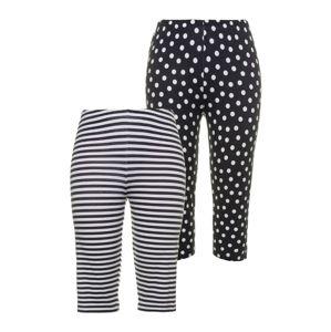 Ulla Popken Pizsama nadrágok  fekete / fehér