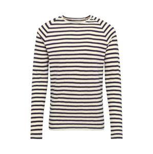 Nudie Jeans Co Póló 'Otto Stripes'  ekrü / fekete