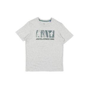 Jack & Jones Junior Póló  zöld / szürke melír