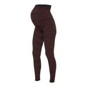 MAMALICIOUS Leggings 'Active'  fekete / piros / lilásvörös