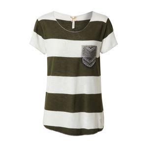 Key Largo Póló 'JANA'  khaki / piszkosfehér / vegyes színek