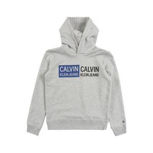 Calvin Klein Sweatshirt  'STAMP LOGO HOODIE'  szürke melír