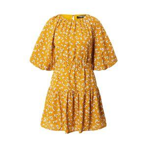 Fashion Union Nyári ruhák 'Corrine'  fehér / aranysárga