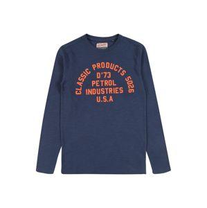 Petrol Industries Shirt  sötétkék / narancs