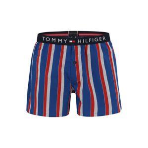 Tommy Hilfiger Underwear Boxeralsók 'WOVEN BOXER WIDE STRIPE'  kék / piros