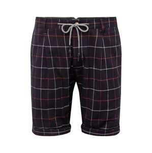 JACK & JONES Élére vasalt nadrágok 'ARROW CHECK'  sötétkék / piros / fehér