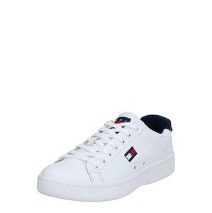 Tommy Jeans Rövid szárú edzőcipők 'WMNS CUPSOLE HERITAGE SNEAKER'  sötétkék / fehér