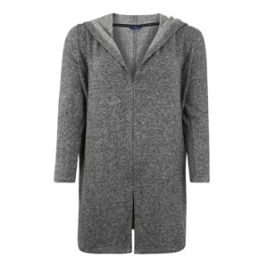 Tom Tailor Women + Kardigán 'sweatjacket cosy fabric'  szürke melír