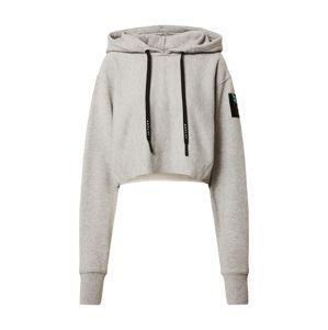 REPLAY Tréning póló  szürke melír / fekete