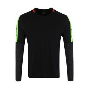 NIKE Funkcionális felső  citromzöld / piros / fekete