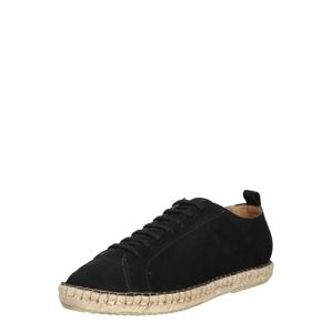 ROYAL REPUBLIQ Espadrilles 'PILGRIM SUEDE DERBY SHOE'  fekete