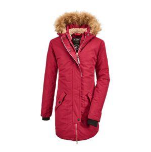 KILLTEC Kültéri kabátok 'Bantry'  pasztellpiros / világosbarna / fekete